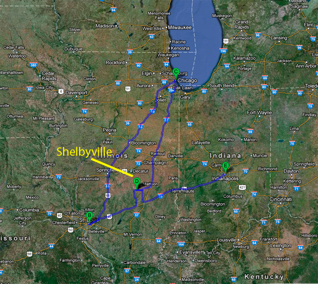 map-to-shelbyville-illinois-by-road